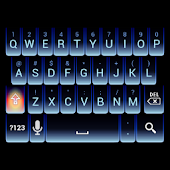 Blue Neon Keyboard Skin