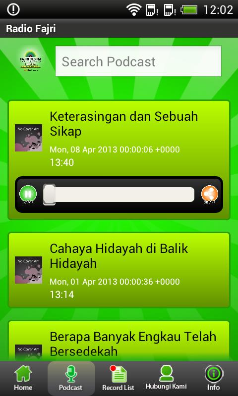 Fajri FM Radio Streaming - screenshot
