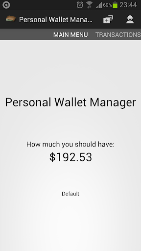 Personal Wallet Manager