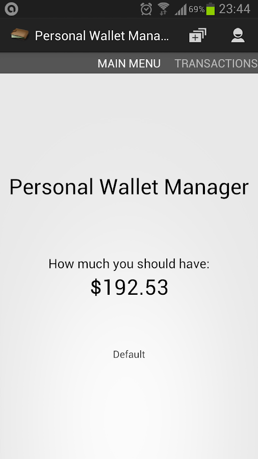 Personal Wallet Manager- screenshot