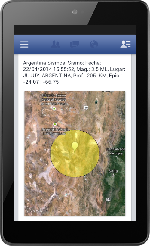 Argentina Sismos- screenshot
