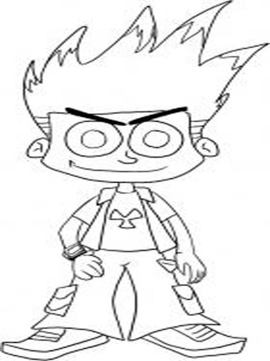 Free kid johnny test coloring
