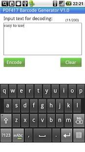 PDF417 Barcode Generator - screenshot thumbnail