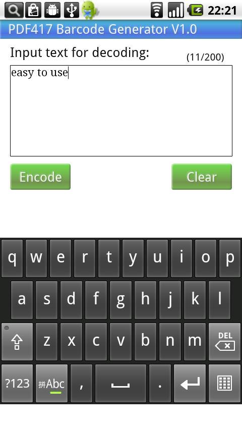 PDF417 Barcode Generator - screenshot