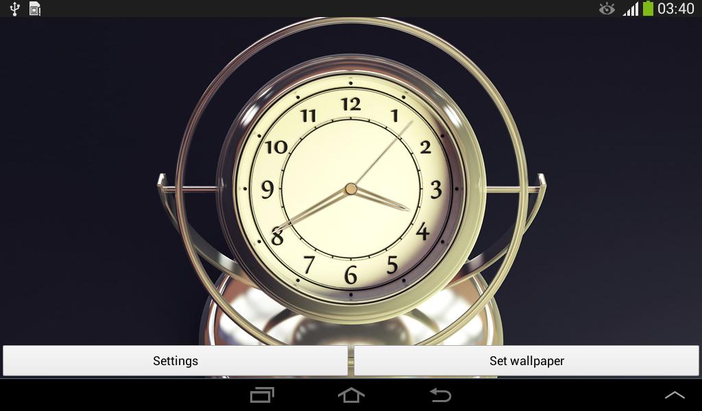 3d clock wallpaper - photo #10