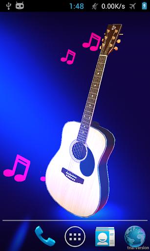 Real 3d guitar live wallpaper