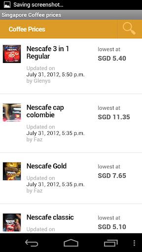 Singapore Coffee Prices