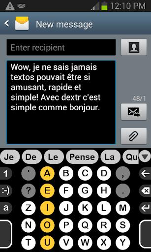 Dextr dictionnaire Français