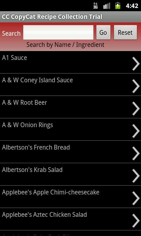 CC CopyCat Recipe Collection- screenshot