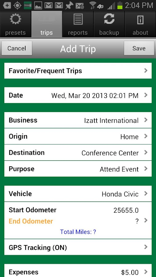 MileBug Mileage Log & Expenses- screenshot