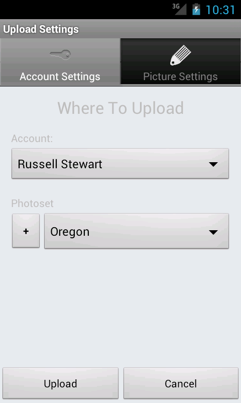 Flickr Companion for Android - screenshot