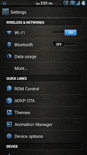 Leather Blue CM11/AOKP Theme- screenshot thumbnail