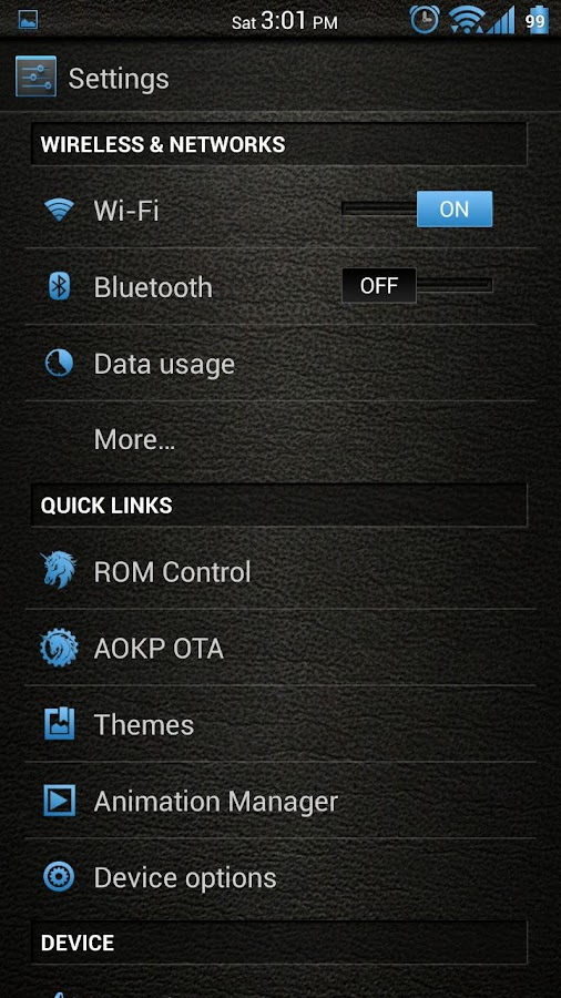 Leather Blue CM11/AOKP Theme- screenshot