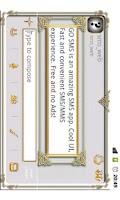 Screenshot of GO SMS Golden Vintage Light