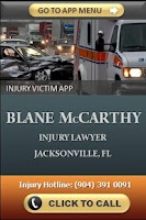 Screenshot of Injury Victim App