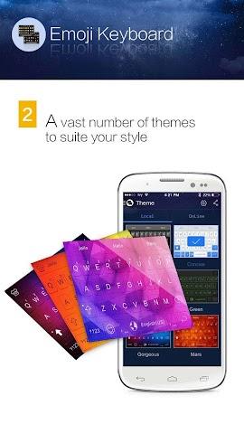 android Kika Emoji Keyboard - GIF Spaß Screenshot 1