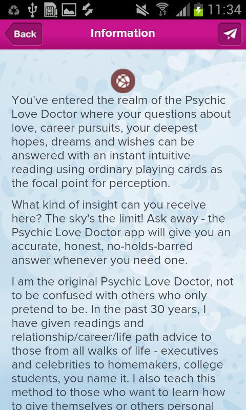 Psychic Love Doctor Reading- screenshot
