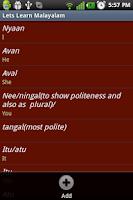 Screenshot of Lets Learn Malayalam