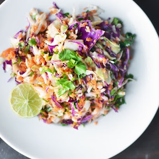 Tri-Color Slaw with Lime Dressing.