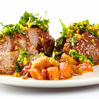 Flank Steak with a Balsamic Glaze and Orange Gremolata
