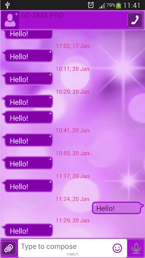 GO SMSパープルグロウ