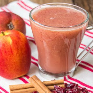 Cranberry and Apple Hot Smoothie.