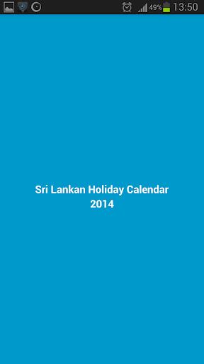Sri Lankan Holidays 2014