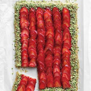 Strawberry-Pistachio Tart.