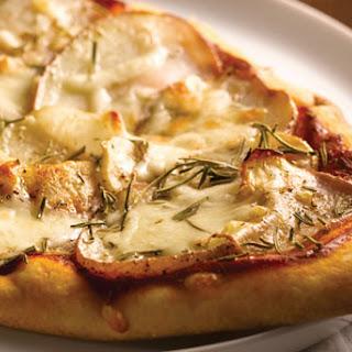 Potato and Mozzarella Naan Pizza.