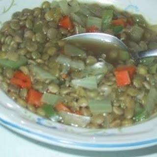 Spicy Lentil Vegetable Soup.