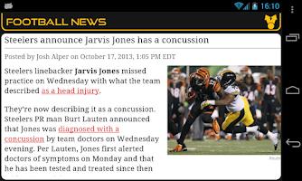 Screenshot of Pittsburgh Football News