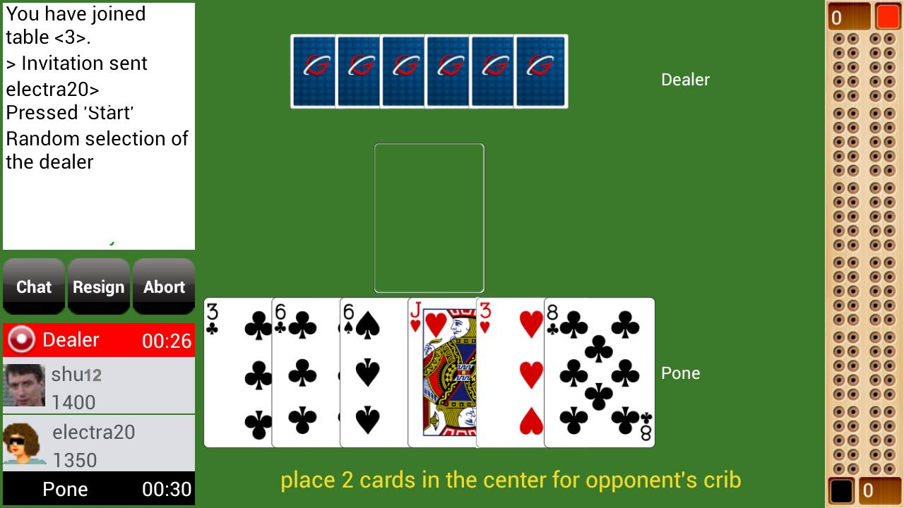 Cribbage Live - screenshot
