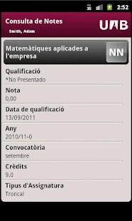 UAB Consulta de Qualificacions- screenshot thumbnail