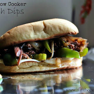 Easy Slow Cooker French Dips.