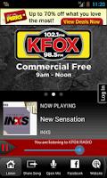 Screenshot of 98.5 KFOX