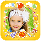 Kids Photo Frames & Stickers icon