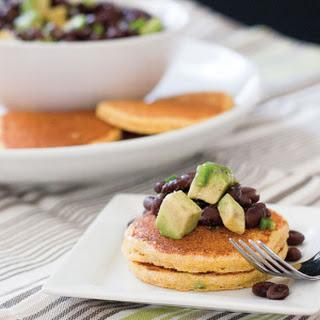Grilled Jalapeño Corn Cakes with Black Bean & Avocado Relish