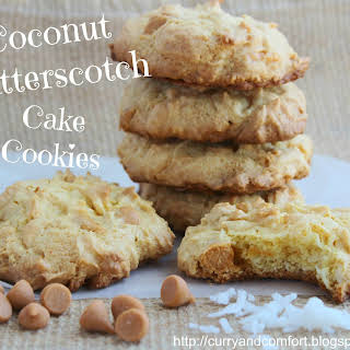 Coconut Butterscotch Cake Cookies.