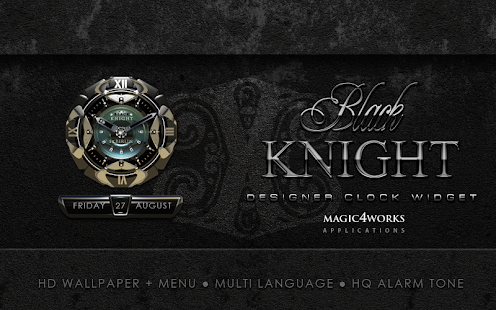 Black Knight Clock Widget - screenshot thumbnail