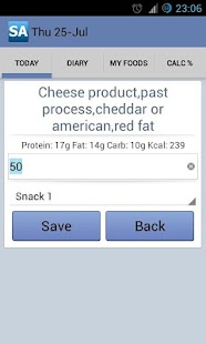 Calorie Counter Slim Assistant- screenshot thumbnail