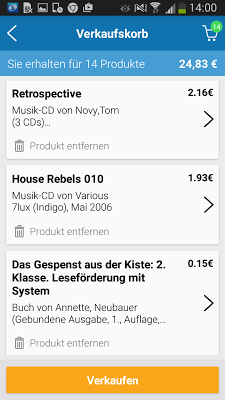 momox - Bücher, CD, DVD Ankauf - screenshot