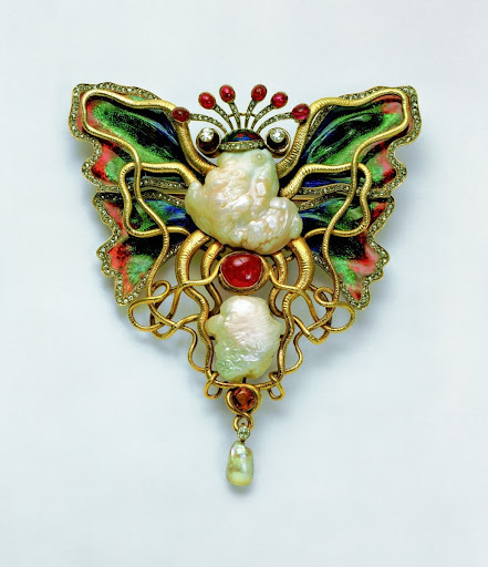 """Octopus and Butterfly"" brooch"