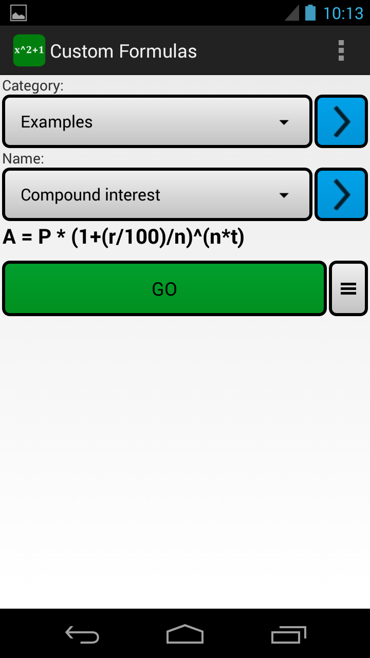 Custom Formulas Screenshot 0