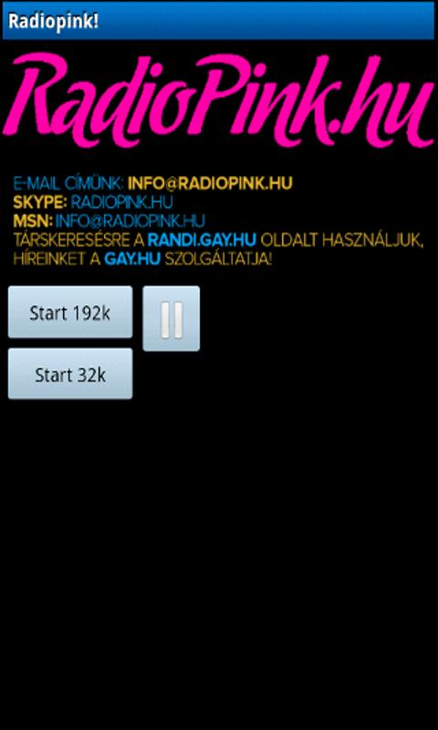Radiopink.hu Player - screenshot