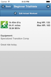 BeginnerTriathlete Mobile- screenshot thumbnail
