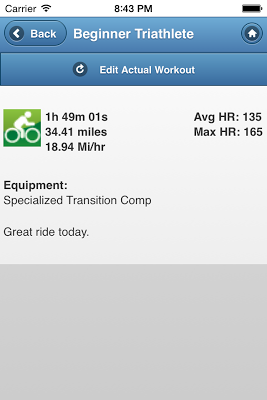 BeginnerTriathlete Mobile - screenshot