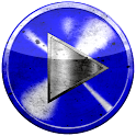 Poweramp skin BLUE GRUNGE icon
