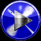 Poweramp skin BLU GRUNGE icon