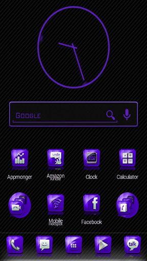 Slick Launcher Theme Purple