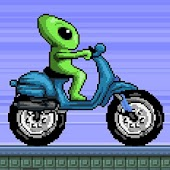 Alien Space Moto - Racing Game